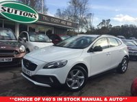 2015 VOLVO V40 2.0 D2 CROSS COUNTRY LUX 5d AUTO 118 BHP £12489.00