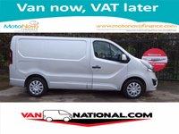 2015 VAUXHALL VIVARO  L1H1 CDTI P/V SPORTIVE 115 BHP SWB (ONE OWNER) £9990.00