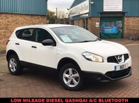 USED 2013 63 NISSAN QASHQAI 1.5 VISIA DCI 5d 110 BHP A Stunning Nissan Qashqai  only 20809 miles, £115 Road Tax, Steering Wheels Controls, Aux Point and so much more !!!