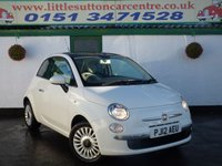 USED 2012 12 FIAT 500 1.2 LOUNGE 3d 69 BHP 28,000 MILES, FULL SERVICE HISTORY, FINANCE AVAILABLE