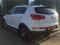 USED 2015 15 KIA SPORTAGE 2.0 CRDI KX-4 5d 181 BHP PAN ROOF SAT NAV LEATHER SIDE STEP ONE OWNER NO FINANCE REPAYMENTS FOR 2 MONTHS STC. 4WD. PANORAMIC SUNROOF. SATELITTE NAVIGATION. SIDE STEPS. STUNNING WHITE WITH FULL BLACK LEATHER TRIM. ELECTRIC HEATED SEATS. CRUISE CONTROL. 18 INCH ALLOYS. COLOUR CODED TRIMS. PARKING SENSORS. REVERSING CAMERA. BLUETOOTH PREP. CLIMATE CONTROL. R/CD PLAYER. 6 SPEED MANUAL. MFSW. ONE OWNER FROM NEW. SERVICE HISTORY. FCA FINANCE APPROVED DEALER. TEL 01937 849492
