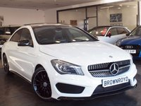 USED 2014 63 MERCEDES-BENZ CLA 2.1 CLA220 CDI AMG SPORT 4d AUTO 170 BHP +PAN ROOF+NIGHT PACK+R-CAMERA+