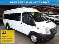 2014 FORD TRANSIT 2.2 430 SHR BUS 17 SEATER STR 134 BHP -VERY LOW MILEAGE- SERVICE HISTORY £12750.00