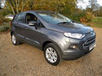 "USED 2015 15 FORD ECOSPORT 1.0 ZETEC 5d 124 BHP 1.0 Litre Petrol Turbo. High MPG, Nice Miles. 16"" Alloy Wheels"