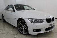 USED 2012 12 BMW 3 SERIES 2.0 320I M SPORT 2DR 168 BHP SERVICE HISTORY + HEATED LEATHER SEATS + BLUETOOTH + PARKING SENSOR + CRUISE CONTROL + MULTI FUNCTION WHEEL + 18 INCH ALLOY WHEELS