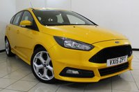 USED 2015 15 FORD FOCUS 2.0 ST-2 5DR 247 BHP FULL FORD SERVICE HISTORY + HALF LEATHER SEATS + 0% FINANCE AVAILABLE T&C'S APPLY + BLUETOOTH + PARKING SENSOR + MULTI FUNCTION WHEEL + RADIO/CD + CLIMATE CONTROL + 18 INCH ALLOY WHEELS