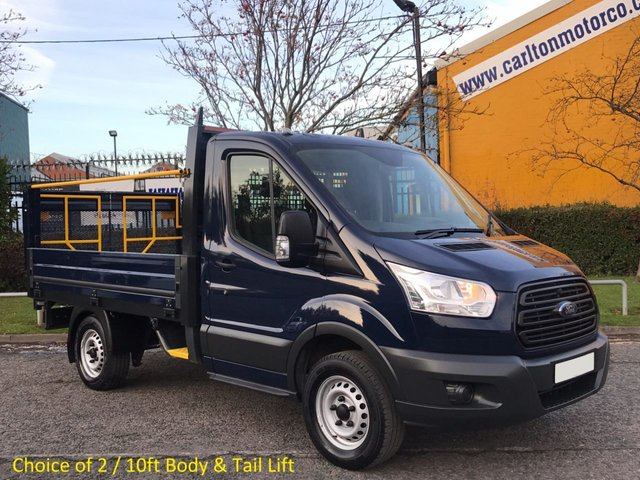 2014 14 FORD TRANSIT 310s L1-H1 Dropside+Tail-Lift 2.2TDCi 100 RWD Low Mileage Ex Lease Choice in Stock Fsh Free UK Delivery