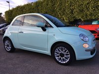 2014 FIAT 500 1.2 LOUNGE 3d WITH VERY LOW MILEAGE IN SMOOTH MINT  £6750.00