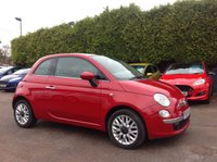 2015 FIAT 500 1.2 LOUNGE 3d  WITH A PANORAMIC ROOF & AIR CON  £6500.00