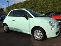 2014 FIAT 500 1.2 POP 3d WITH VERY LOW MILEAGE  IN SMOOTH MINT  £5250.00