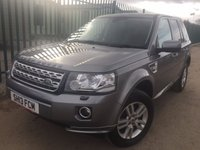 USED 2013 13 LAND ROVER FREELANDER 2 2.2 TD4 XS 5d 150 BHP FACELIFT SAT NAV LEATHER PDC ONE OWNER FSH NO FINANCE REPAYMENTS FOR 2 MONTHS STC. 4WD. FACELIFT MODEL. SATELLITE NAVIGATION. STUNNING GREY MET WITH FULL BLACK LEATHER TRIM. HEATED SEATS. CRUISE CONTROL. 17 INCH ALLOYS. COLOUR CODED TRIMS. PARKING SENSORS. BLUETOOTH PREP. CLIMATE CONTROL. TRIP COMPUTER. R/CD PLAYER. 6 SPEED MANUAL. MFSW. MOT 11/18. ONE OWNER FROM NEW. FULL SERVICE HISTORY. FCA FINANCE APPROVED DEALER. TEL 01937 849492.