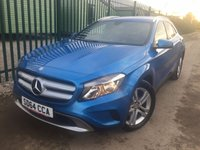 USED 2014 64 MERCEDES-BENZ GLA-CLASS 2.1 GLA200 CDI SE 5d 136 BHP LEATHER PRIVACY ONE OWNER FSH NO FINANCE REPAYMENTS FOR 2 MONTHS STC. STUNNING BLUE MET WITH FULL BLACK LEATHER TRIM. 18 INCH ALLOYS. COLOUR CODED TRIMS. PRIVACY GLASS. BLUETOOTH PREP. CLIMATE CONTROL. R/CD PLAYER. 6 SPEED MANUAL. MFSW. MOT 09/18. ONE OWNER FROM NEW. FULL SERVICE HISTORY. FCA FINANCE APPROVED DEALER. TEL 01937 849492.