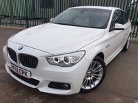 USED 2012 12 BMW 5 SERIES 3.0 530D M SPORT GRAN TURISMO 5d AUTO 242 BHP PAN ROOF SAT NAV LEATHER FSH NO FINANCE REPAYMENTS FOR 2 MONTHS STC. PANORAMIC SUNROOF. WIDESCREEN SATELLITE NAVIGATION. STUNNING WHITE WITH FULL CREAM LEATHER SPORT TRIM. ELECTRIC HEATED SEATS. CRUISE CONTROL. 19 INCH UPGRADED ALLOYS. COLOUR CODED TRIMS. PRIVACY GLASS. PARKING SENSORS. ELECTRIC TAILGATE. BLUETOOTH PREP. CLIMATE CONTROL. R/CD PLAYER. MFSW. MOT 11/18. ONE PREV OWNER. FULL SERVICE HISTORY. FCA FINANCE APPROVED DEALER. TEL 01937 849492.