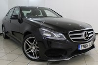 USED 2014 64 MERCEDES-BENZ E CLASS 2.1 E250 CDI AMG SPORT 4DR AUTOMATIC 202 BHP FULL MERCEDES SERVICE HISTORY + HEATED LEATHER SEATS + SAT NAVIGATION + PARKING SENSOR + BLUETOOTH + CRUISE CONTROL + MULTI FUNCTION WHEEL + 18 INCH ALLOY WHEELS