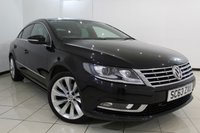 USED 2013 63 VOLKSWAGEN CC 2.0 GT TDI BLUEMOTION TECHNOLOGY DSG 4DR AUTOMATIC 138 BHP VW SERVICE HISTORY + HEATED LEATHER SEATS + SAT NAVIGATION + BLUETOOTH + CRUISE CONTROL + MULTI FUNCTION WHEEL + ALLOY WHEELS