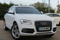 USED 2014 14 AUDI Q5 2.0 TDI QUATTRO S LINE PLUS 5d AUTO 175 BHP SAT NAV, HEATED SEATS, FULL LEATHER INTERIOR