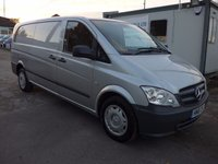2011 MERCEDES-BENZ VITO 110 CDI EXTRA LWB, 100 BHP, AIR CON, SERVICE HISTORY, 1 COMPANY OWNER £7995.00
