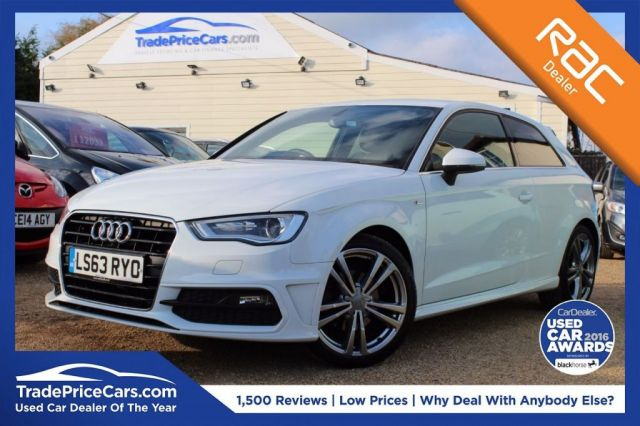 View our 2013 63 AUDI A3 1.6 TDI S LINE 3d 104 BHP