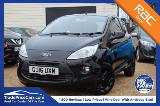 View our 2016 16 FORD KA 1.2 ZETEC BLACK EDITION 3d 69 BHP