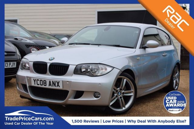 View our 2008 08 BMW 1 SERIES 2.0 120D M SPORT 3d 175 BHP