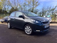 2014 PEUGEOT 108 1.0 ACTIVE 5d 1 OWNER FROM NEW AND ZERO ROAD TAX £5000.00