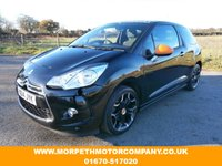 USED 2014 14 CITROEN DS3 1.2 DSIGN BY BENEFIT 3d 82 BHP **ONE OWNER WITH FULL CITROEN MAIN DEALER SERVICE HISTORY**