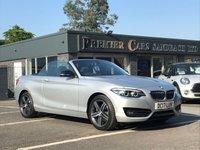 2017 BMW 2 SERIES 2.0 220D SPORT 2d 188 BHP £21490.00