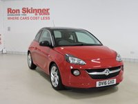 USED 2016 16 VAUXHALL ADAM 1.4 SLAM 3d 98 BHP with Black Roof