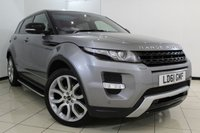 USED 2011 61 LAND ROVER RANGE ROVER EVOQUE 2.2 SD4 DYNAMIC 5DR AUTOMATIC 190 BHP LAND ROVER SERVICE HISTORY + HEATED LEATHER SEATS + SAT NAVIGATION + REVERSE CAMERA + SIDE STEPS + BLUETOOTH + CRUISE CONTROL + MULTI FUNCTION WHEEL + ALLOY WHEELS