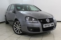USED 2009 58 VOLKSWAGEN GOLF 1.4 GT SPORT TSI 5DR 140 BHP HEATED LEATHER SEATS + AIR CONDITIONING + MULTI FUNCTION WHEEL + RADIO/CD + ELECTRIC WINDOWS + 17 INCH ALLOY WHEELS