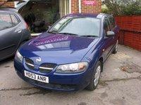 2003 NISSAN ALMERA 1.5 S 5d 96 BHP £SOLD