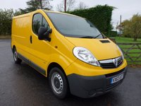 USED 2013 63 VAUXHALL VIVARO 2900 Swb 2.0 Cdti Ecoflex 115 Ps Rare Tailgate Model With Electric Pack & Air Con