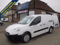 2014 PEUGEOT PARTNER PROFESSIONAL WITH 3 SEATS, AIR-CON & BLUETOOTH STEREO. £5945.00