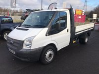 USED 2013 63 FORD TRANSIT 350 MWB One Stop Alloy Dropside DRW  63 TRANSIT 350 One Stop Shop Alloy Dropside - 100PSi & 6 Speed Gearbox