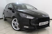 USED 2015 65 FORD FOCUS 2.0 ST-3 TDCI 5DR 183 BHP HEATED LEATHER SEATS + CRUISE CONTROL + REVERSE CAMERA + MULTI FUNCTION WHEEL + CLIMATE CONTROL + DAB RADIO + 18 INCH ALLOY WHEELS