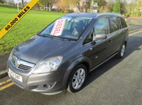 USED 2012 12 VAUXHALL ZAFIRA 1.7 DESIGN CDTI 5d 123 BHP FULL MAIN DEALER SERVICE HISTORY - 60,000 GUARANTEED MILES - DIESEL