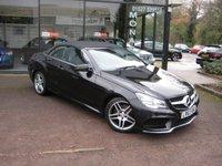 2013 MERCEDES-BENZ E CLASS 2.1 E220 CDI AMG SPORT 2d AUTO 170 BHP £16990.00