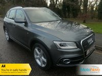 USED 2014 63 AUDI Q5 2.0 TDI QUATTRO S LINE 5d AUTO 175 BHP FANTASTIC LADY OWNED LOW MILEAGE AUDI Q5 S LINE DIESEL WITH AUTOMATIC GEARBOX, FULL BLACK LEATHER, CLIMATE CONTROL, CRUISE CONTROL, ALLOY WHEELS AND AUDI SERVICE HISTORY