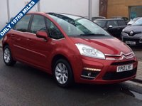 USED 2012 12 CITROEN C4 PICASSO 1.6 VTR PLUS HDI 5STR 5d 110 BHP only 19769 miles,service history,air conditioning, alloys