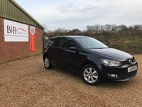 2014 VOLKSWAGEN POLO 1.2 MATCH EDITION 3dr Black Metallic, Low mileage 12K £7495.00
