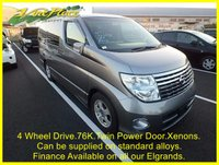 USED 2004 54 NISSAN ELGRAND Highway Star 3.5 4 Wheel Drive (4WD) Facelift 8 Seats +4WD+FACELIFT+TWIN POWER DOORS+REVERSE CAMERA+XENONS+8 SEATS+