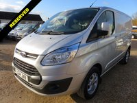 2014 FORD TRANSIT CUSTOM 2.2 TDCI 290 LIMITED SWB LOW ROOF 125 BHP 48771 MILES NO VAT £13995.00