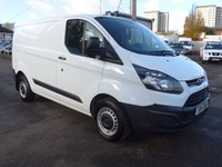 USED 2014 14 FORD TRANSIT CUSTOM 2.2 270 ECO-TECH, 100 BHP, FULL DEALER SERVICE HISTORY