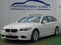 USED 2012 12 BMW 5 SERIES 2.0 525d M Sport Touring 5dr PANORAMIC GLASS ROOF+CAMERA