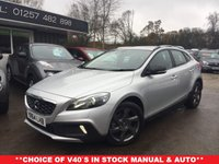 2014 VOLVO V40 1.6 D2 CROSS COUNTRY LUX 5d AUTO 113 BHP £11989.00