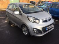 USED 2014 14 KIA PICANTO 1.2 2 5d AUTO 84 BHP WITH ALLOY WHEELS AND AIR CON!!...EXCELLENT FUEL ECONOMY!!..LOW CO2 EMISSIONS(125G/KM)...LOW ROAD TAX...FULL HISTORY...ONLY 6427 MILES FROM NEW!!.