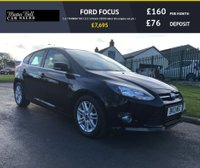 USED 2013 13 FORD FOCUS 1.6 TITANIUM TDCI 115 5d black 28000 miles fsh compare our price