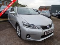 USED 2011 61 LEXUS CT 1.8 200H SE-L PREMIER 5d AUTO 136 BHP With 7 dealerships service stamps and 1 previous keeper. It has an MOT and comes with 2 keys. Hydrid electric fuel vehicle