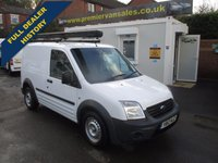 2012 FORD TRANSIT CONNECT ** CHOICE OF 2 **1.8 TDCI, T200, SHORT WHEEL BASE, LOW ROOF, ELEC WINDOWS, ROOF RACK, SERVICE HISTORY £3800.00