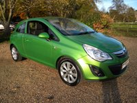 USED 2012 12 VAUXHALL CORSA 1.2 ACTIVE 3d 83 BHP Full Vauxhall History, Great Colour, Half Leather Seats